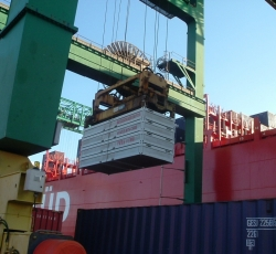 Loading off ship